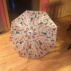NWT Simplicity Vintage Themed Large Umbrella